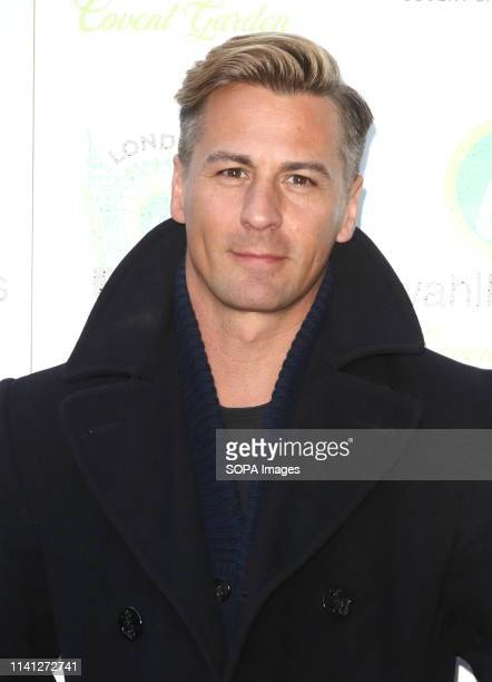 Ice Skater Matt Evers attends as Hollywood actor Mark Wahlberg hosts a VIP party to celebrate the new UK outlet of his burger restaurant in London's...