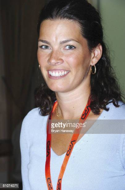 Ice skater Nancy Kerrigan attends the Video Software Dealers Association convention at the Venetian Hotel Casino on July 15 2004 in Las Vegas Nevada