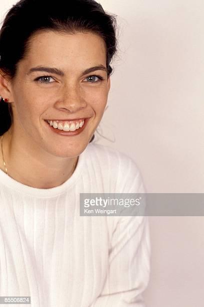 Ice skater Nancy Kerrigan poses for a portrait in 1994 in New York City New York