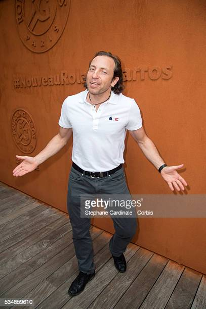 Ice Skater Philippe Candeloro attends day seven of the 2016 French Open at Roland Garros on May 28 2016 in Paris France