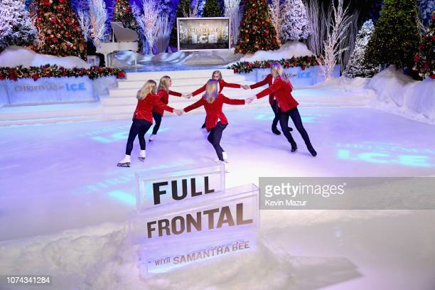 Ice skaters perform during Full Frontal With Samantha Bee Presents Christmas On ICE at PlayStation Theater on December 17 2018 in New York City 477149