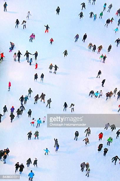 ice skaters - スケートリンク ストックフォトと画像