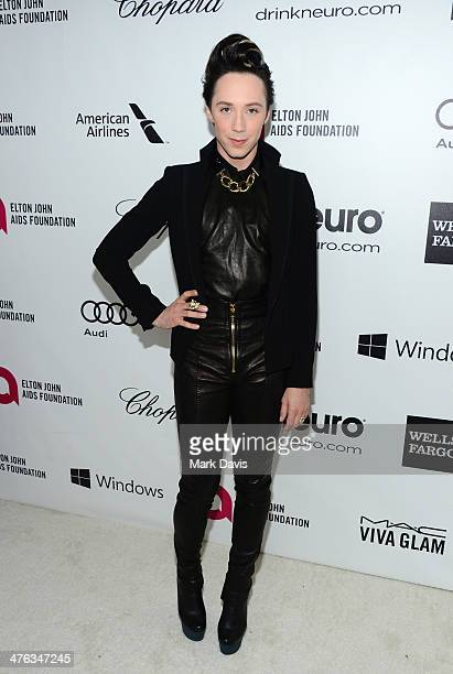Ice skater/TV personality Johnny Weir attends the 22nd Annual Elton John AIDS Foundation's Oscar Viewing Party on March 2 2014 in Los Angeles...