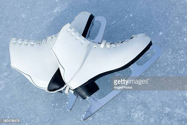 ice skates - figure skating stock pictures, royalty-free photos & images