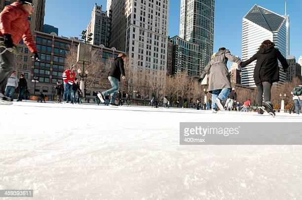 Ice Skating at Chicago's Millennium Park