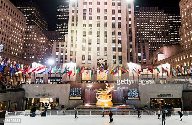 Ice skating at the Rockefeller Center New York