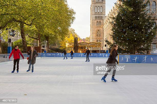 ice skating in london - chelsea charms stock photos and pictures