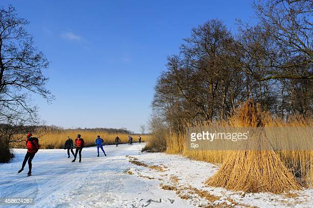 """ice skating in nature - """"sjoerd van der wal"""" or """"sjo"""" stock pictures, royalty-free photos & images"""