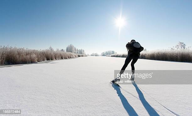 ice skating - netherlands stock pictures, royalty-free photos & images