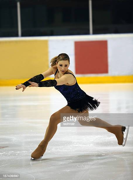 ice skating - figure skating stock pictures, royalty-free photos & images