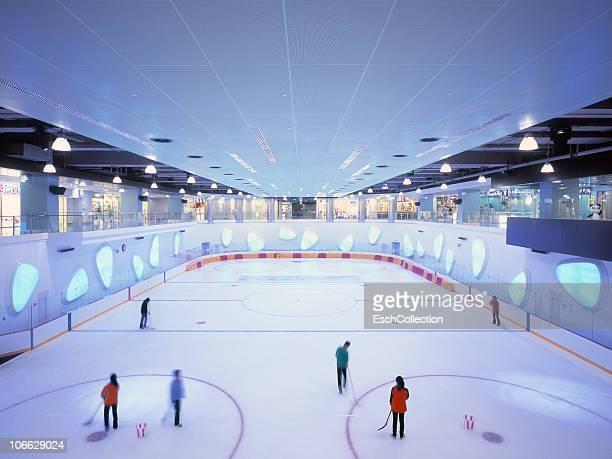 Ice skating ring inside shopping mall in Shanghai.