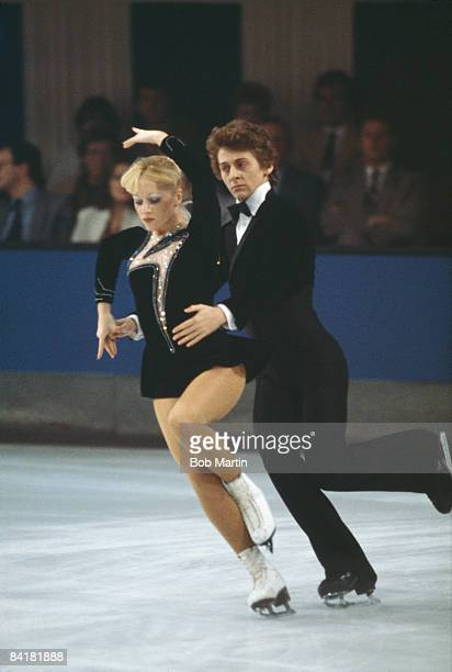 Ice skating team Karen Barber and Nicholas Slater at St Ivel 1983