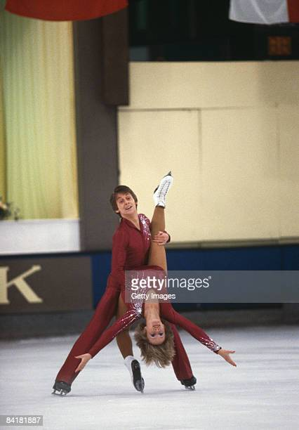 Ice skating team Karen Barber and Nicholas Slater circa 1983