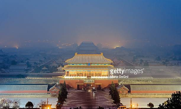 Ice, snow and also smog/pollution. The Forbidden City was the Chinese imperial palace from the Ming Dynasty to the end of the Qing Dynasty. It is...