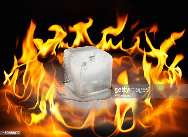Ice surrounded by fire