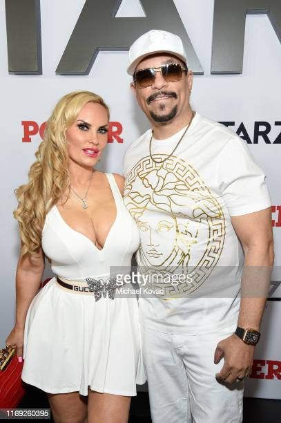 Ice T and Coco Austin at STARZ Madison Square Garden Power Season 6 Red Carpet Premiere Concert and Party on August 20 2019 in New York City