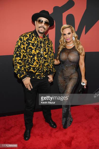 Ice T and Coco Austin attend the 2019 MTV Video Music Awards at Prudential Center on August 26, 2019 in Newark, New Jersey.