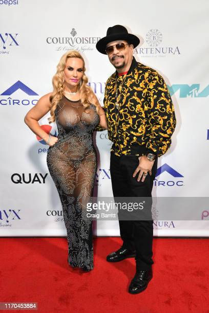 Ice T and Coco Austin pose on the red carpet during Missy Elliott's MTV Video Music Awards after party on Monday, August 26, 2019 in New York City....