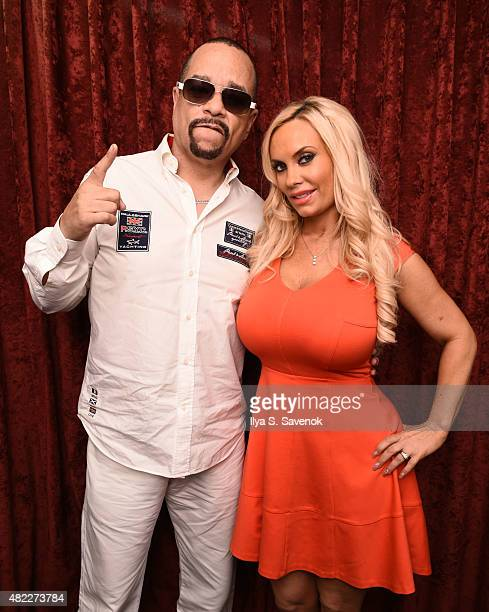 Ice T and Coco visit the SiriusXM Studios on July 29 2015 in New York City