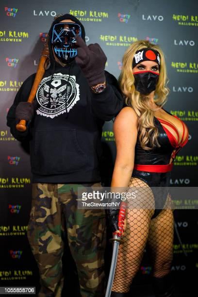 Ice T and Nicole Coco Austin attend Heidi Klum's 19th Annual Halloween party at Lavo on October 31 2018 in New York City
