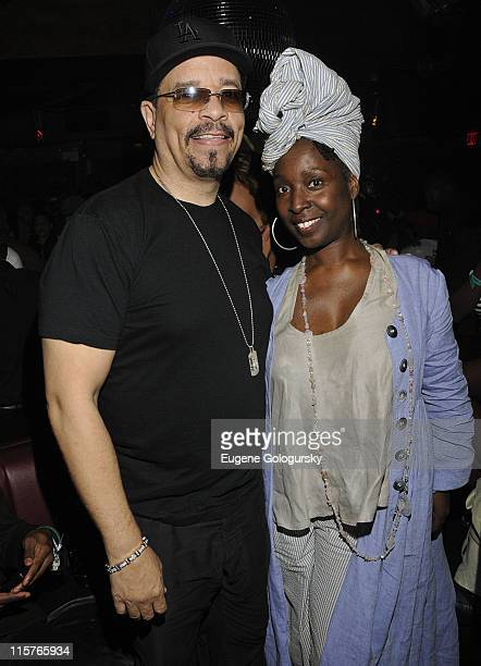 Ice T and Phyllis Yvonne Stickney attend the HipHop Immortal Event courtesy of Corona presented by the National Museum of HipHop at Pink Elephant on...