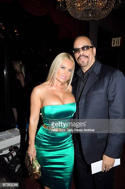 Ice T and wife Coco at the Premiere of 'Righteouskill' held at the Ziegfeld Theater
