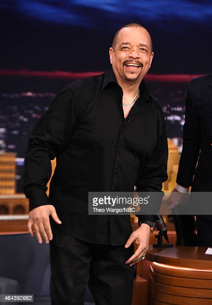 """Ice T Visits """"The Tonight Show Starring Jimmy Fallon"""" at Rockefeller Center on February 25, 2015 in New York City."""