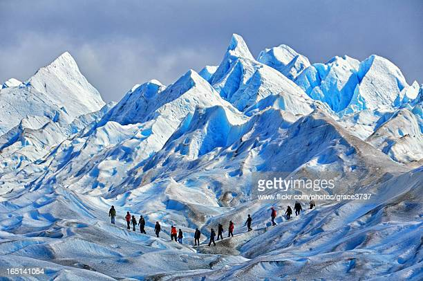ice trekking - patagonia stock pictures, royalty-free photos & images