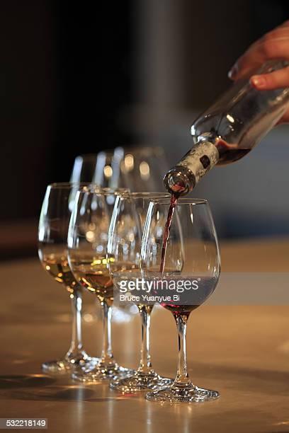 Ice wine tasting session