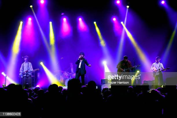 Iceage performs at Sonora Stage during the 2019 Coachella Valley Music And Arts Festival on April 21, 2019 in Indio, California.