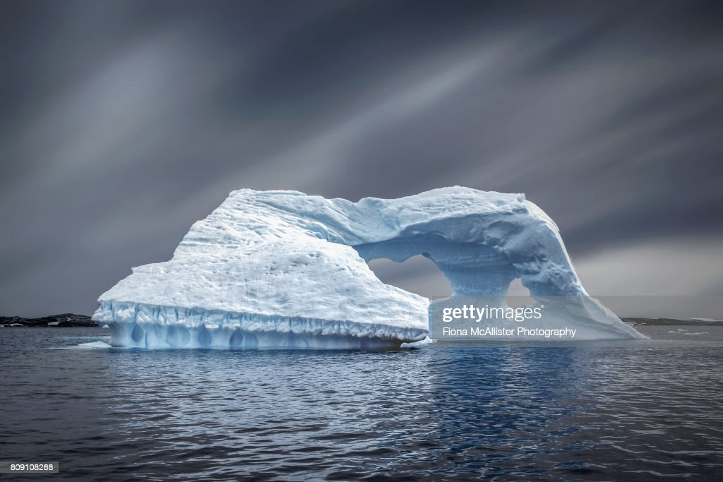Iceberg Ahead, Antarctic Ocean : Stock Photo