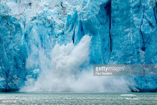 Iceberg Calving from Glacier, Alaska