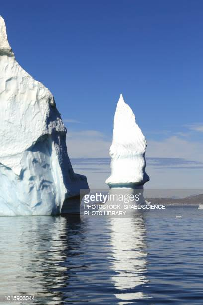 iceberg, disko bay, greenland - photostock stock pictures, royalty-free photos & images