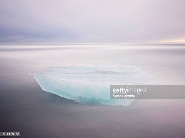 Iceberg Floating in the Surf, Iceland