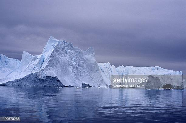 Iceberg from Kangia icefjord in Kangerlussuaq Greenland From the public boat between Ilulissat and Ilimanaq