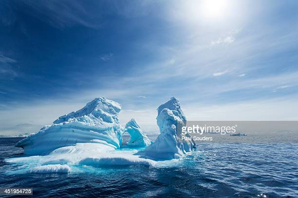 iceberg, gerlache strait, antarctic peninsula - antarctica stock pictures, royalty-free photos & images