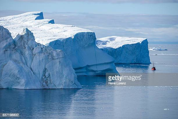 iceberg, greenland, ilulissat icefjord - greenland stock pictures, royalty-free photos & images
