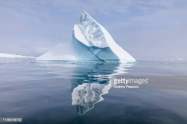 iceberg in antarctic landscape - berg stock pictures, royalty-free photos & images