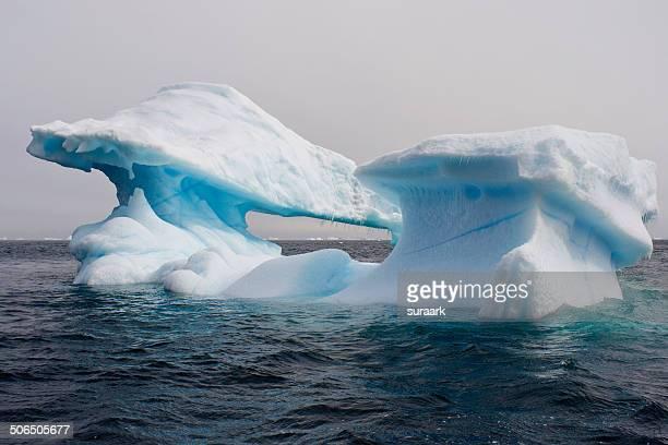 iceberg in antarctic sound in antarctica - antarctic sound stock pictures, royalty-free photos & images