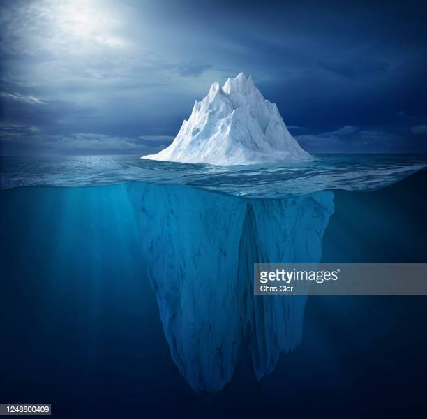 iceberg in ocean - berg stock pictures, royalty-free photos & images