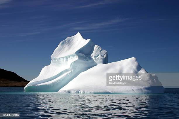 Iceberg in the Sea With Clear Blue Sky
