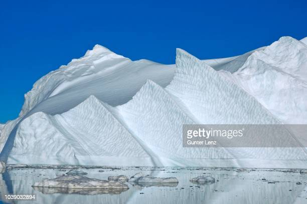iceberg, kangia ice fjord, disco bay, unesco world heritage site, jacobshavn, ilulissat, greenland, arctic - bay of water stock pictures, royalty-free photos & images