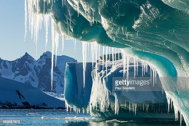 iceberg, lemaire channel, antarctica - antarctica stock pictures, royalty-free photos & images