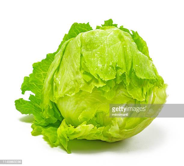 iceberg lettuce - lettuce stock pictures, royalty-free photos & images