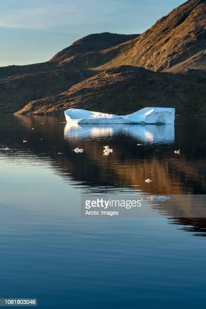 iceberg, narsaq, eriksfjordur, south greenland - grönland stock-fotos und bilder