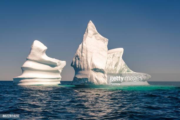 iceberg near trinity bay, newfoundland - newfoundland and labrador stock pictures, royalty-free photos & images