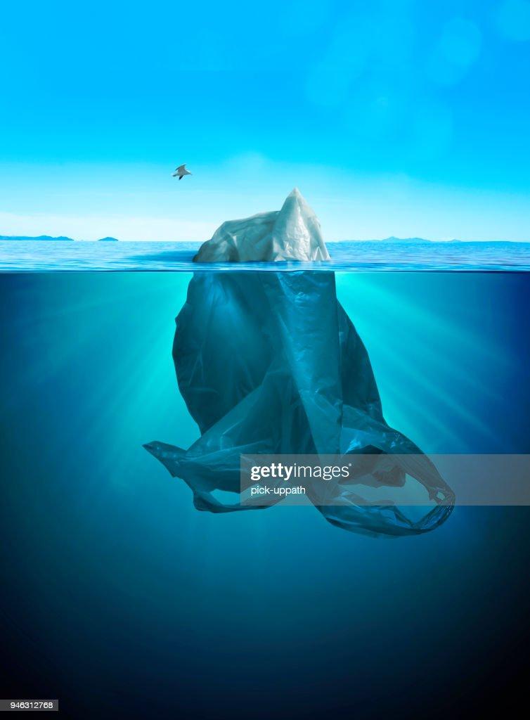iceberg of trash : Stock Photo