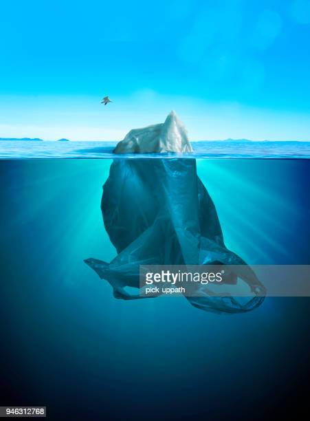 iceberg of trash - berg stock pictures, royalty-free photos & images