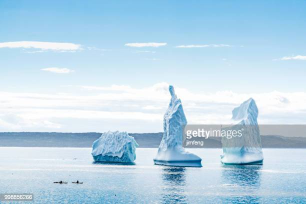 iceberg on the wolf cove of bonavista - newfoundland and labrador stock pictures, royalty-free photos & images