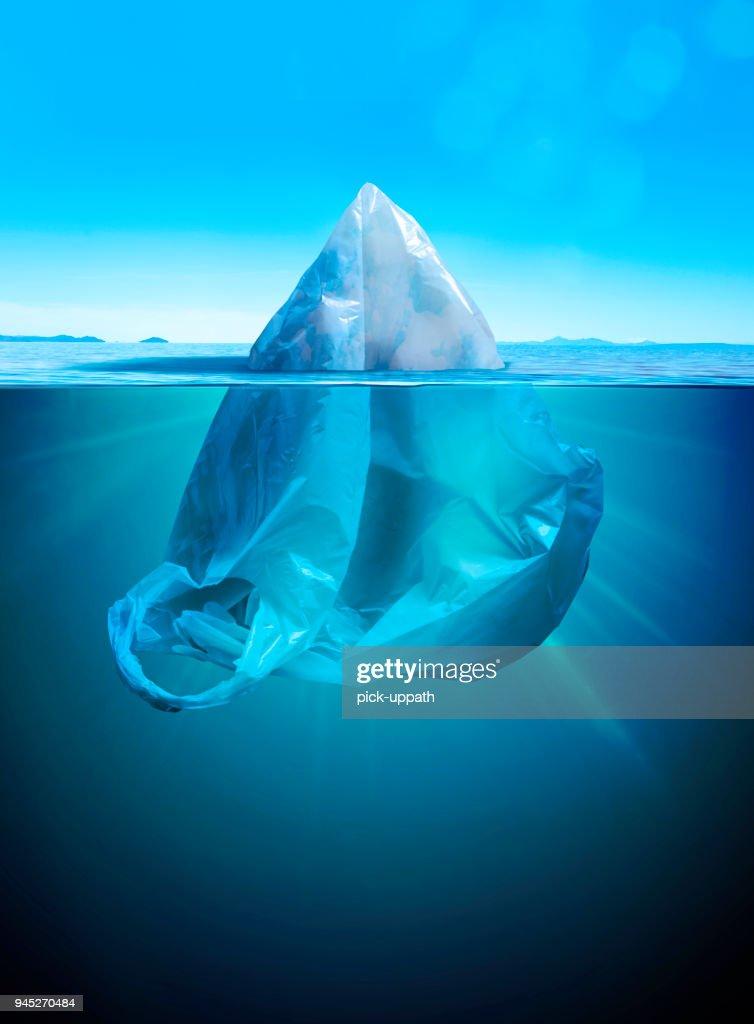 Iceberg or plastic bag : Stock Photo